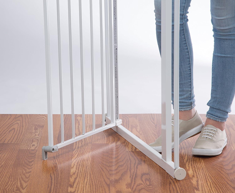 keine Stolpergefahr mehr Safety 1st Flat Step Treppenschutzgitter ultraflache Bodenverstrebung 73-80 cm wei/ß
