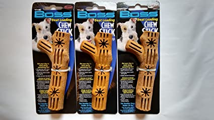 Amazon Com Boss Chew Stick Dog Toy Fillable With Treat Small Rubber Garden Outdoor