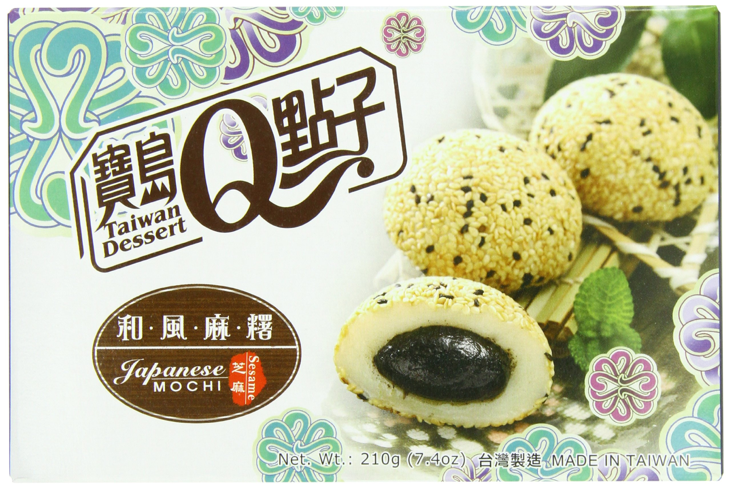 Royal Family Japanese Rice Cake Mochi, Sesame, 7.41 Ounce (Pack of 24) by Royal Family