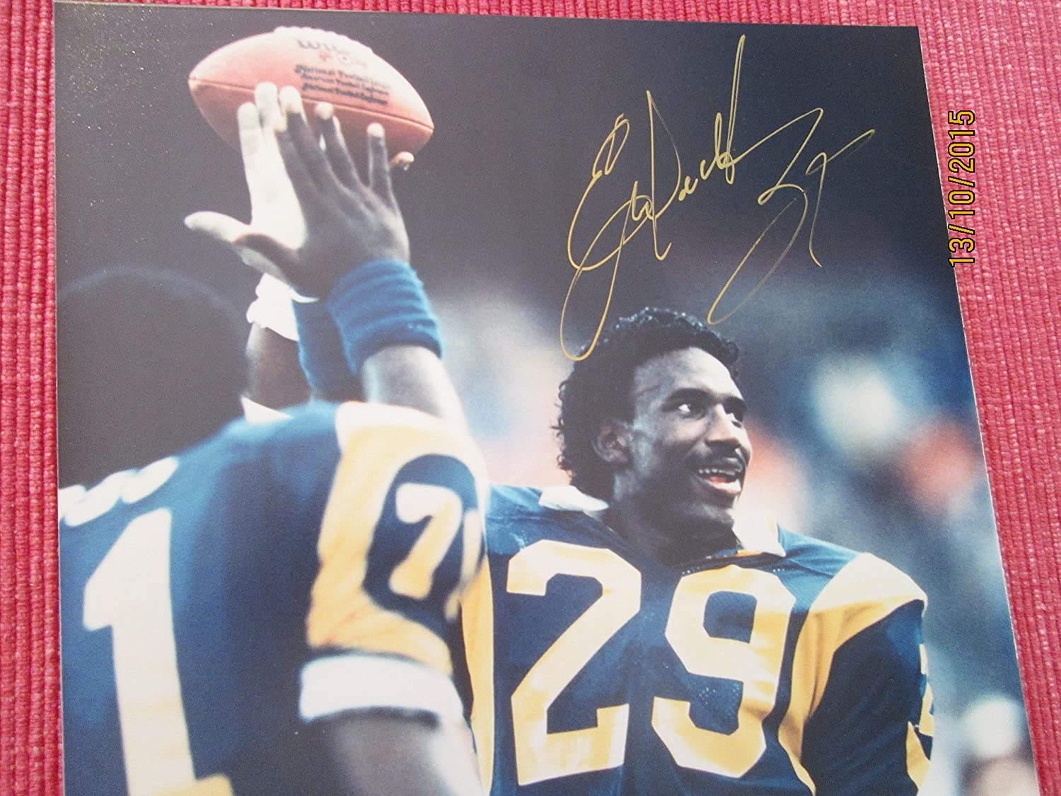 ERIC DICKERSON Signed Colts or Rams 8x10 Football Photo Guaranteed Authentic