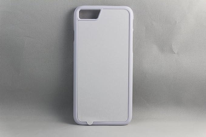 purchase cheap d1875 3764a Amazon.com: iPhone 7 Rubber / Plastic - Black / White - DIY - Blank ...