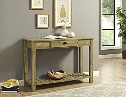 Nice WE Furniture Country Style Entry Console Table   48u0026quot;, Barnwood