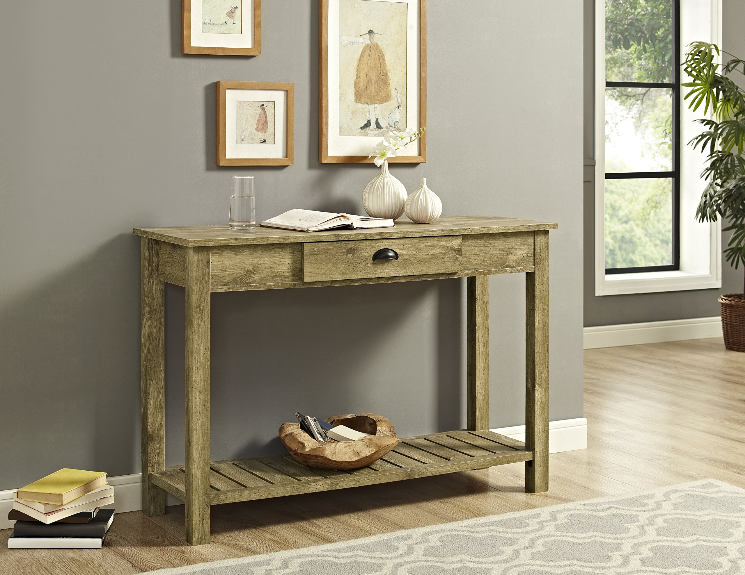 WE Furniture Country Style Entry Console Table - 48'', Barnwood