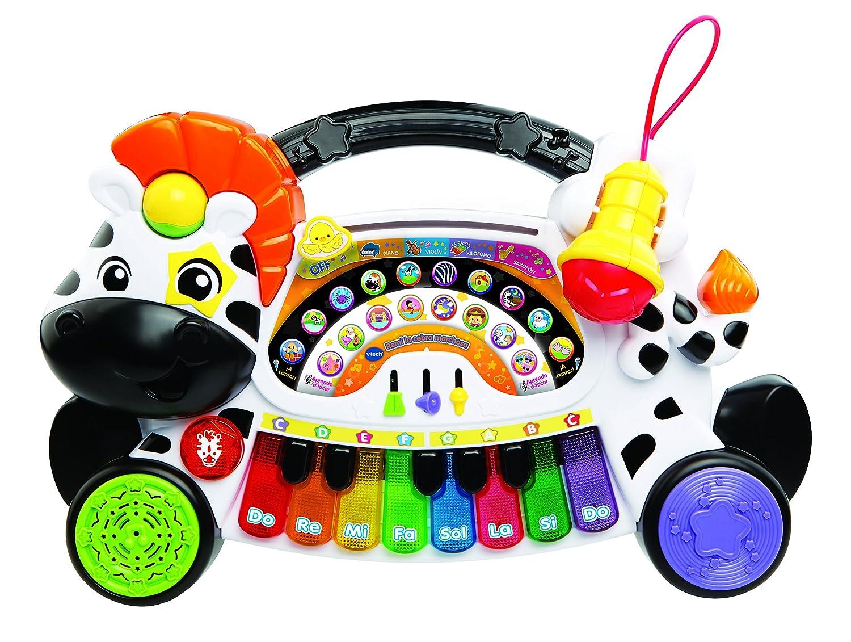 VTech Baby remi–La Zèbre marchosa, piano–musique, notes et instruments à clavier interactif, différentes fonctions et activités musicales (Vtech 3480–179122) piano-musique