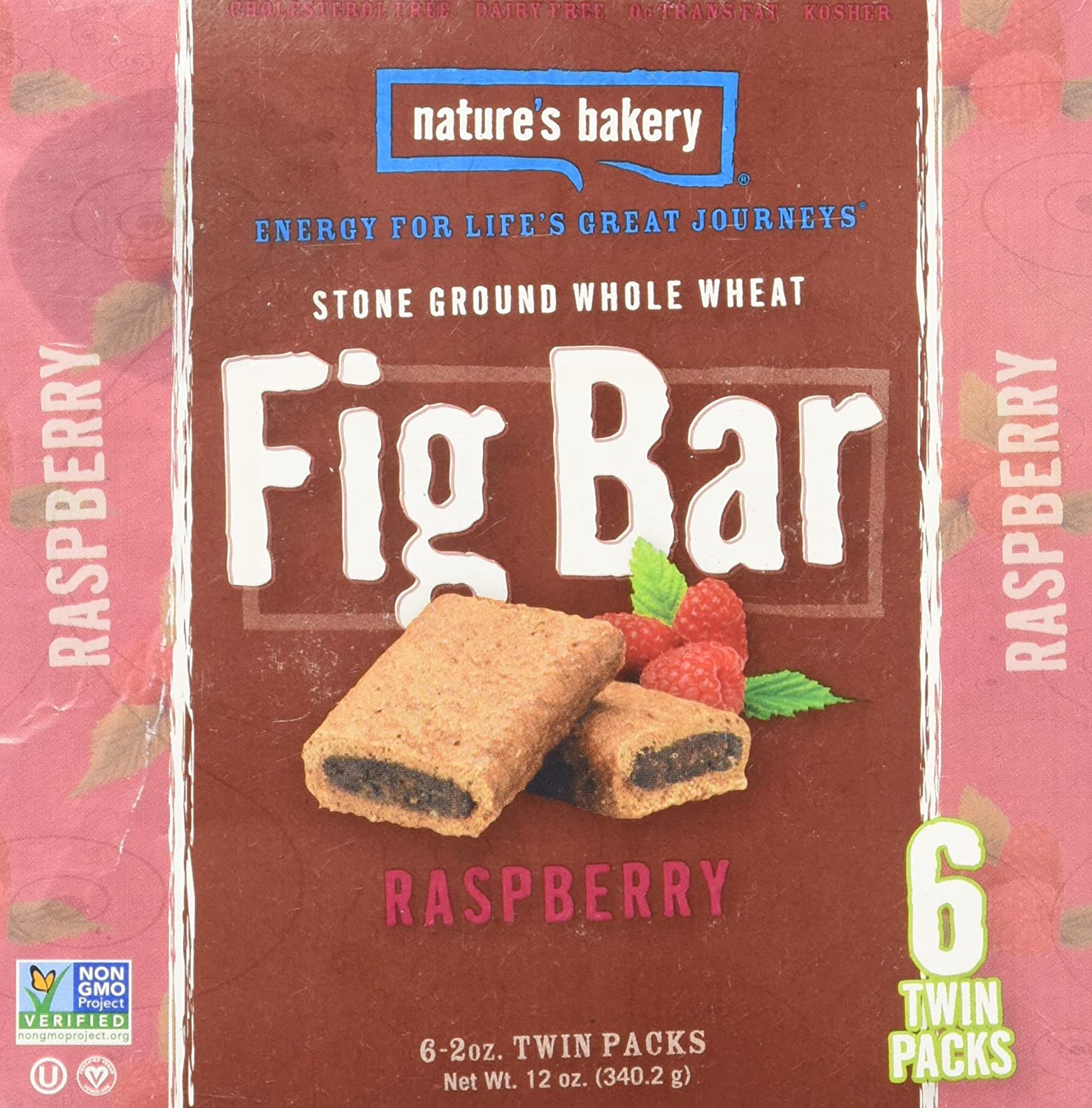 Natures Bakery Fig Bar Whole Wheat Raspberry 6ct Box (Pack of 4)