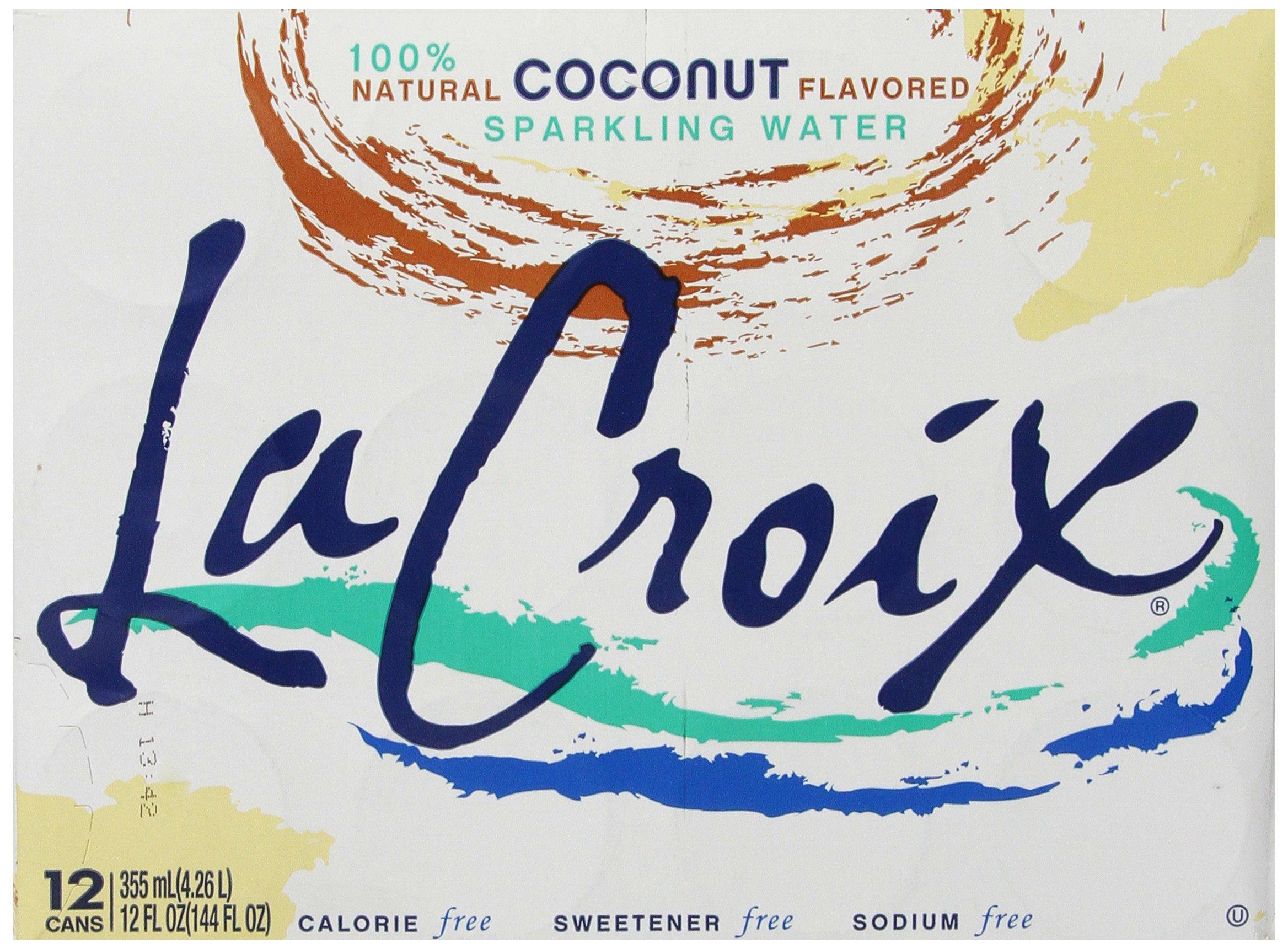 La Croix Sparkling Water, Coconut, 12 oz Can (Pack of 12) by La Croix