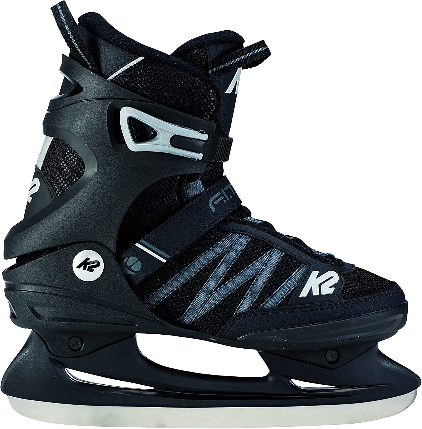 K2 Skate Men s F.I.T. Ice Skate, Black Gray