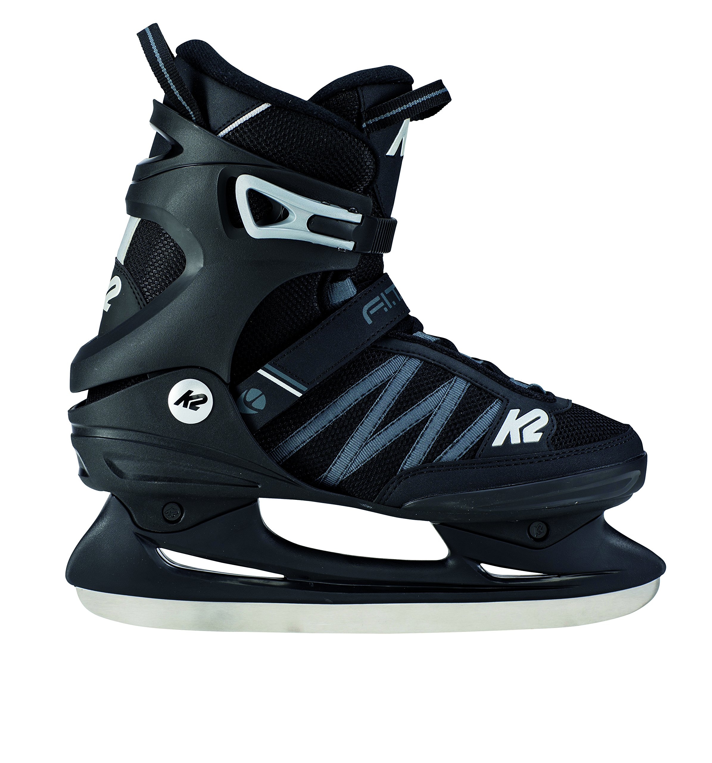 K2 Skate Men's F.I.T. Ice Skate, Black Gray, 12