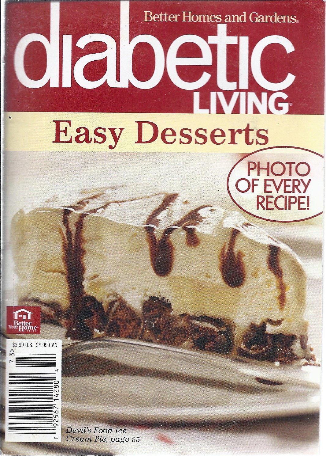 Read Online Better Homes and Garden Diabetic Living Easy Deserts 2007 pdf