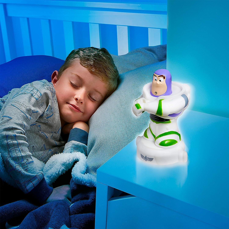 Blanc 279TOY Disney Toy Story Buzz L/'/éclair-Veilleuse et Lampe Torche GoGlow Buddy