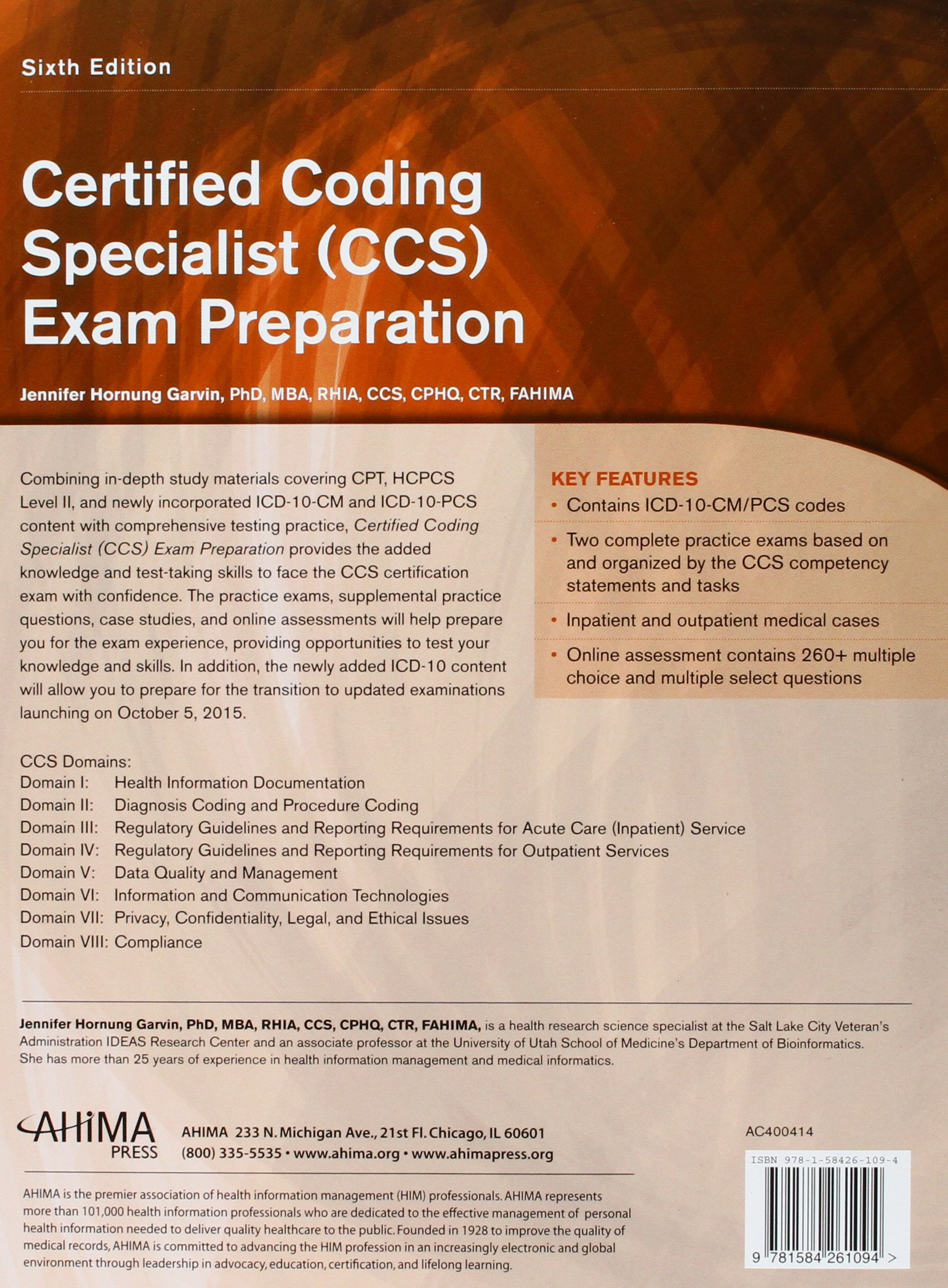 Certified Coding Specialist Ccs Exam Preparation Amazon Books