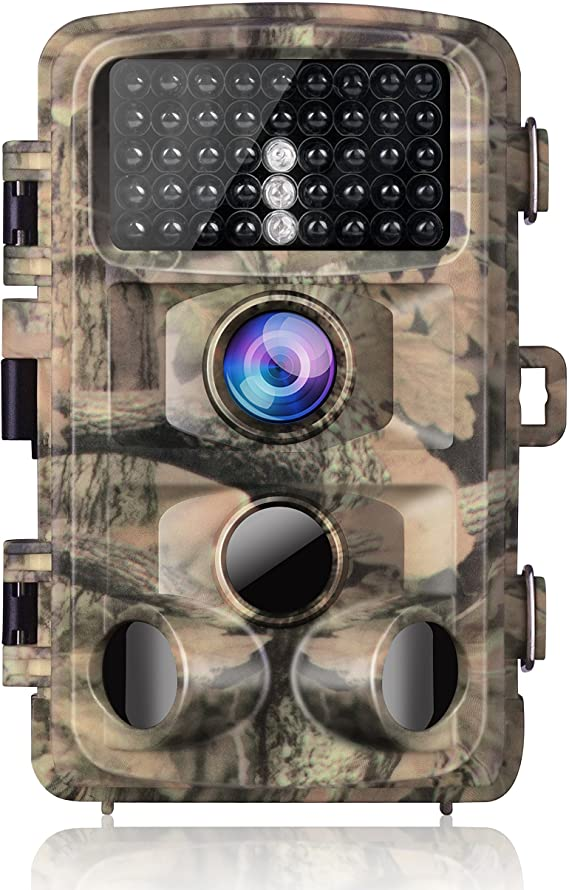 "Campark Trail Camera-Waterproof Game Hunting Scouting Cam 14MP 1080P with 3 Infrared Sensors for Wildlife Monitoring with 120°Detecting Range Motion Activated Night Vision 2.4"" LCD 42pcs IR LEDs"