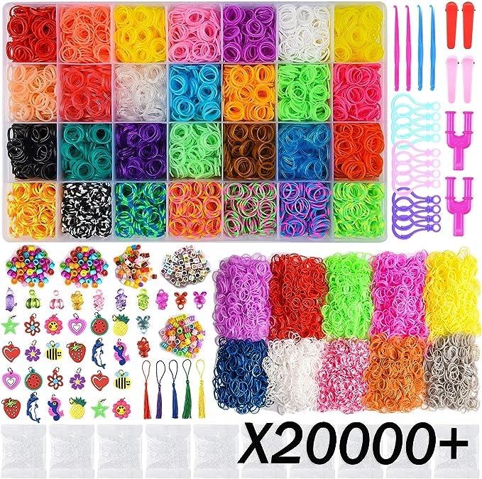 Rainbow Loom Bands Bracelets Collier Bijoux Loisirs Créatifs Transparent 600 pcs