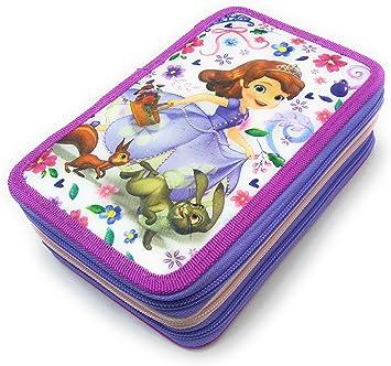 Disney - Disney WD16015 Plumier Triple Princesa Sofía: Amazon.es: Juguetes y juegos