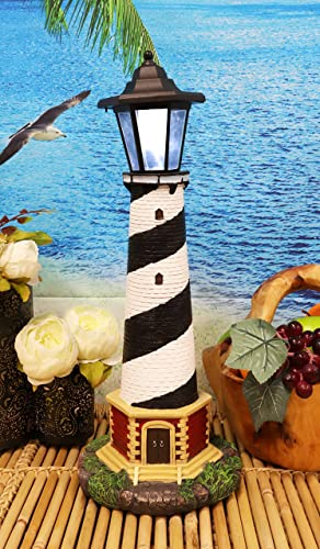 Ebros Nautical Scenic Cape Hatteras Lighthouse Statue 20.5″ Tall