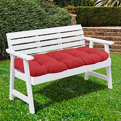 Sweet Home Collection Patio Chair Cushions Outdoor Loveseat Lounge Seat Pads Premium Comfortable Thick Fiber Fill Tufted 44″ x 19″