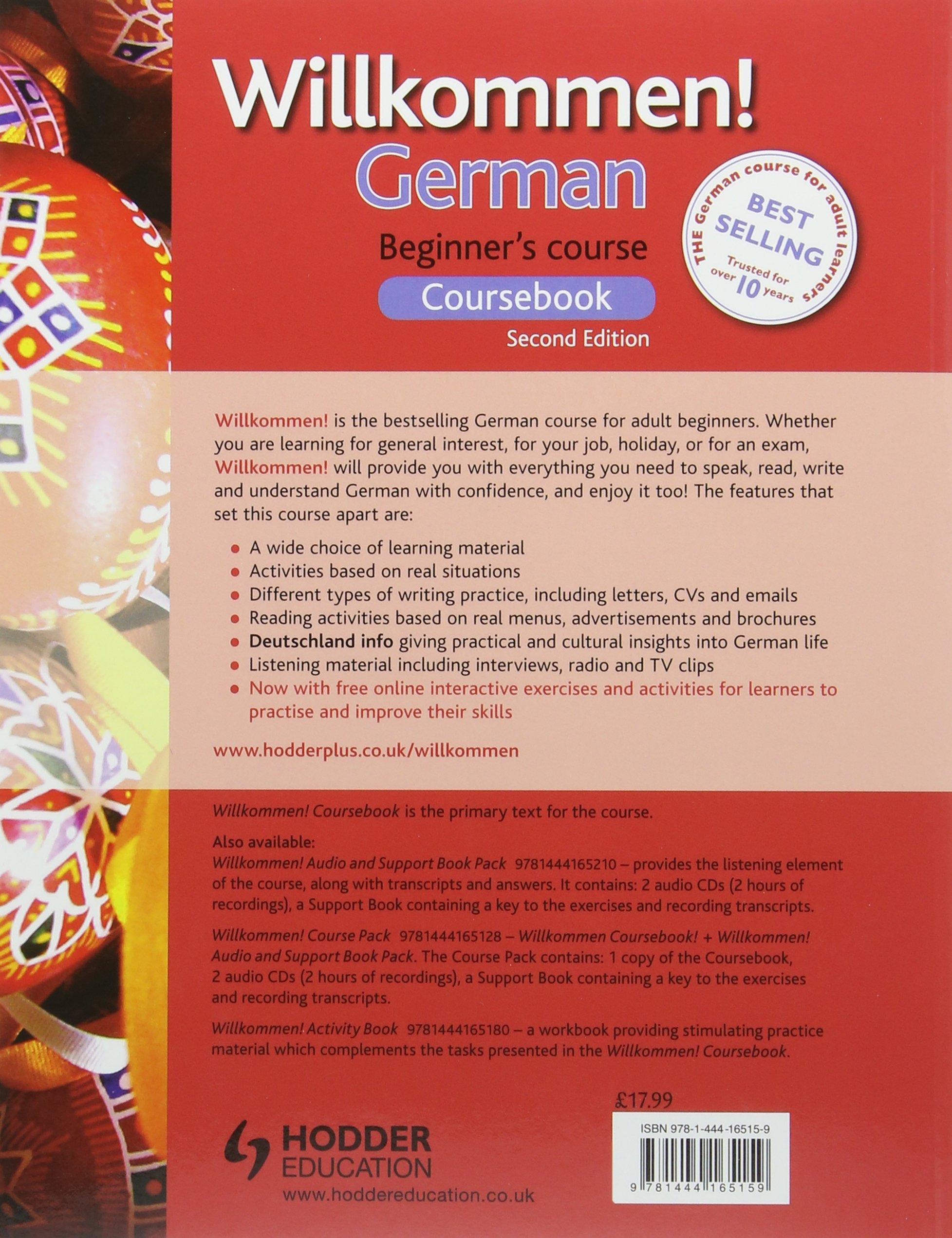 Willkommen! German Beginner's Course 2ED Revised: Coursebook: Amazon.co.uk:  Paul Coggle, Heiner Schenke: 9781444165159: Books