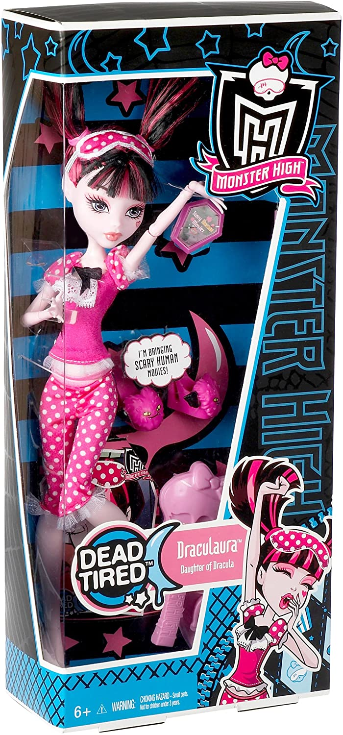 Amazon Com Monster High Dead Tired Draculaura Doll Toys Games