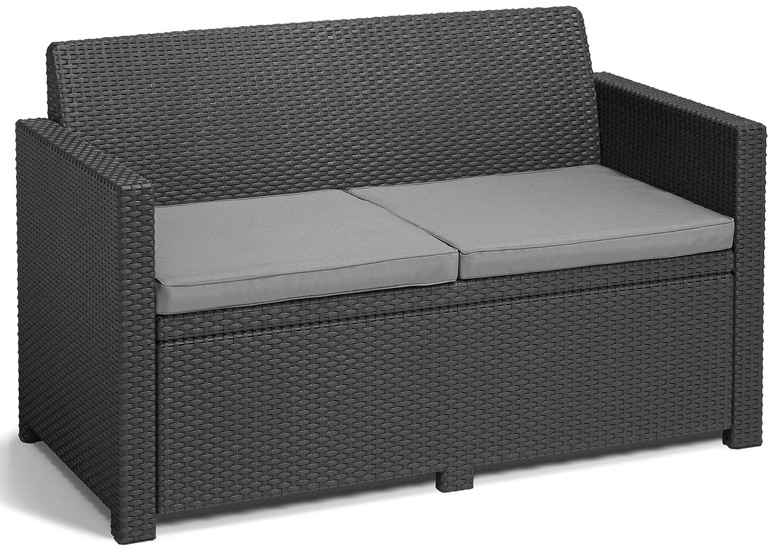ALLIBERT Lounge Set Alabama graphite: Amazon.fr: Jardin