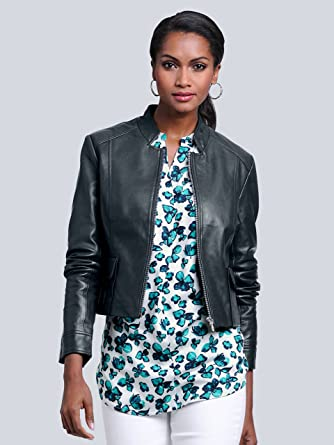 big sale 50436 2cf98 Alba Moda White Women's Jacket - Turquoise - UK 16: Amazon ...