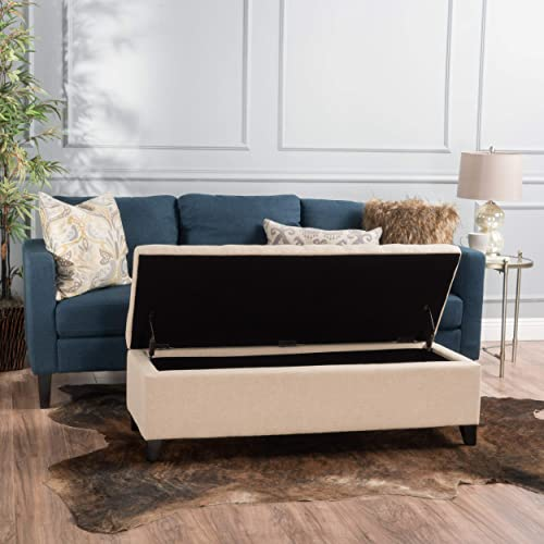 Christopher Knight Home Mission Tufted Fabric Storage Ottoman Bench