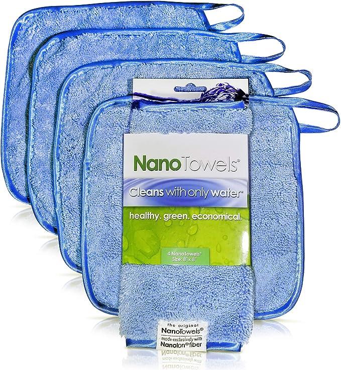 8x8, Green Life Miracle Nano Towels 4-Pack