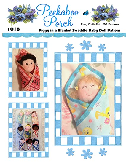 Amazon.com: Swaddle Baby Doll PDF Cloth Doll Pattern Makes Over 30 ...