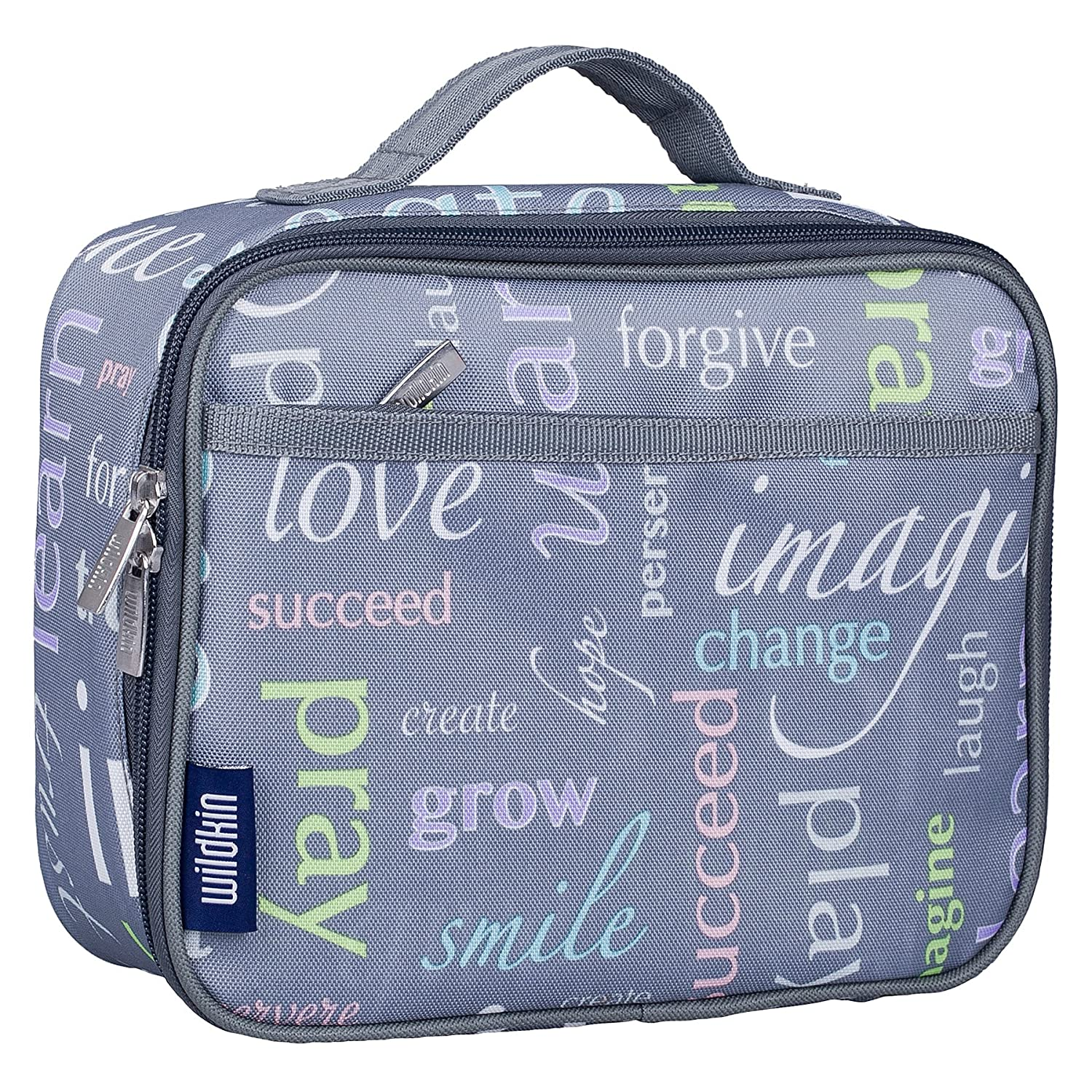 Lunch Box, Wildkin Lunch Box, Insulated, Moisture Resistant, and Easy to Clean with Helpful Extras for Quick and Simple Organization, Ages 3+, Perfect for Kids or On-The-Go Parents – Big Dot Aqua 33119
