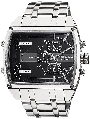 Diesel DZ7324 - Reloj, correa de acero inoxidable color plateado: Amazon.es: Relojes