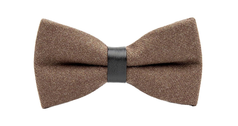 2f0518028b97 Material 100% fleece/wool with PU leather Ring, Skinny handmade pre-tie Bow  tie 12CM * 6CM/4.72