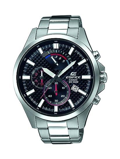 1442a5b5923b Casio Reloj Analogico para Hombre de Cuarzo con Correa en Acero Inoxidable  EFV-530D-1AVUEF  Amazon.es  Relojes