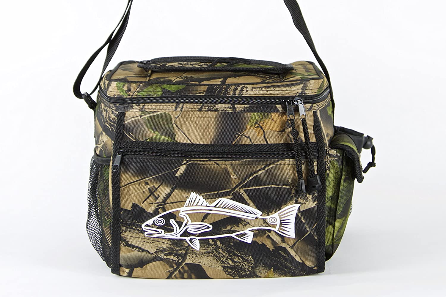 e34914870 Swell Avenue Camo Cooler for Fishing, Camping or Hunting - Redfish Logo  Durable Can Cooler with 24 Can Capacity and Heat Sealed Interior - Perfect  Camo ...