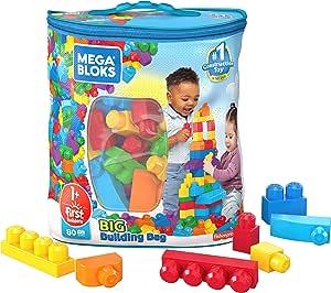Mega Bloks Playset Bolsa Clásica de Construcción, color Azul