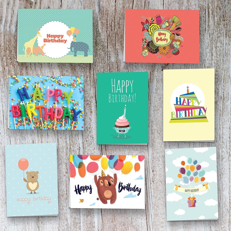 40 Birthday Cards Assortment Happy Birthday Cards Bulk Box Card