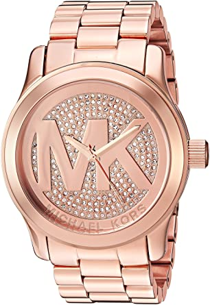 0c8b05ed07e19 Amazon.com  Michael Kors Women s Runway Rose Gold-Tone Watch MK5661 ...