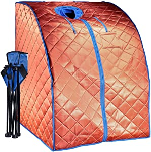 Durherm Infrared Sauna, Low EMF Negative Ion Portable Indoor Sauna
