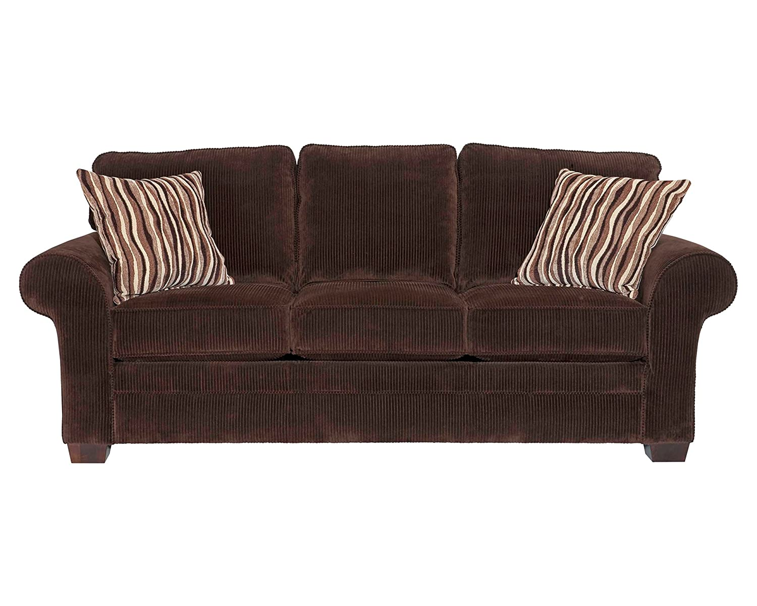 Amazoncom Broyhill Zachary Sofa Brown Chocolate Kitchen Dining - Broyhill emily sofa