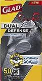 Glad Dual Defense Drawstring Large Trash Bags, 30