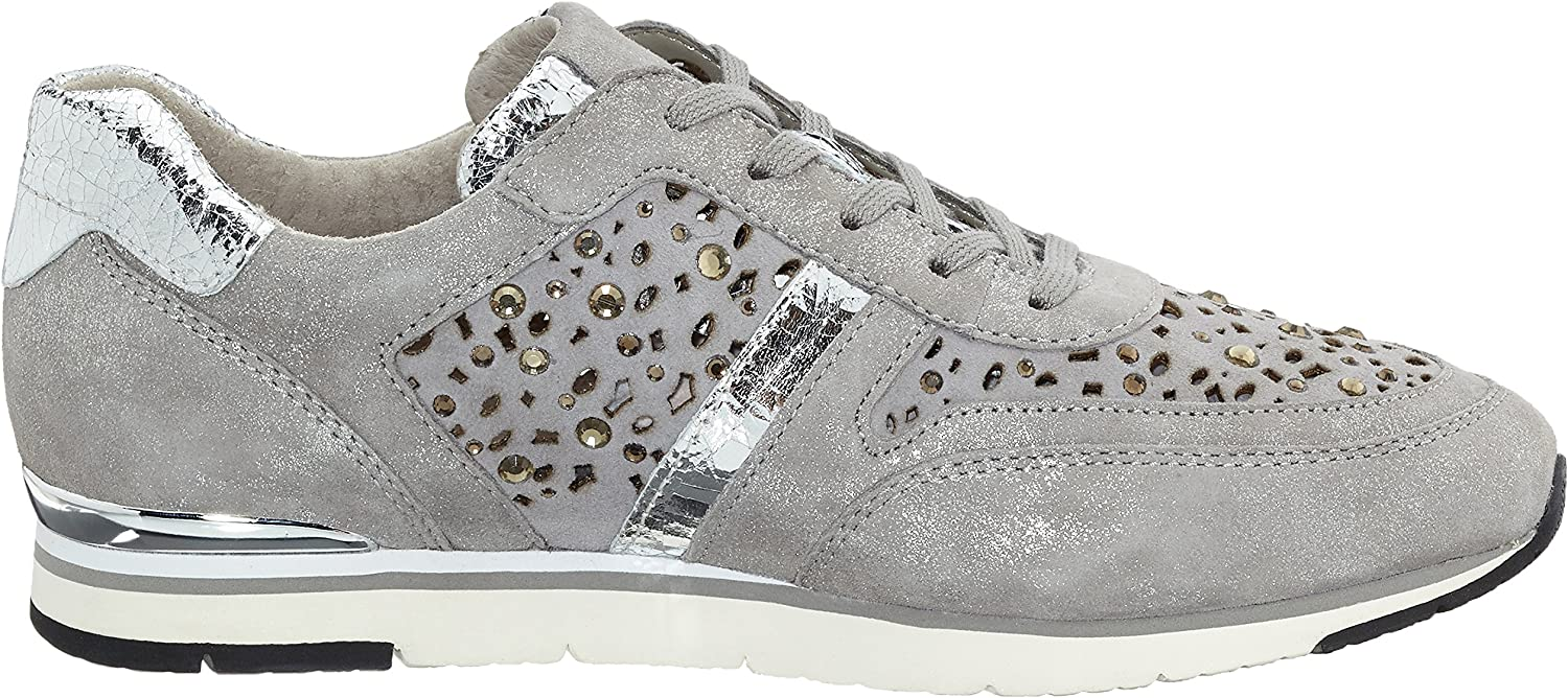 Gabor Damen Fashion Sneakers Grau Grau Stone Strass 69