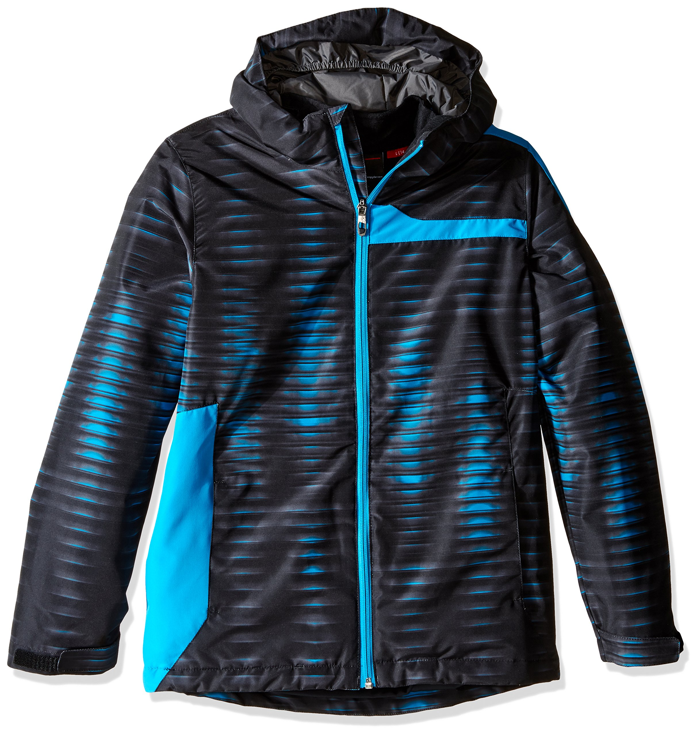 Spyder Boys Reckon 321 Jacket, Small, Space/Electric Blue Print/Polar by Spyder