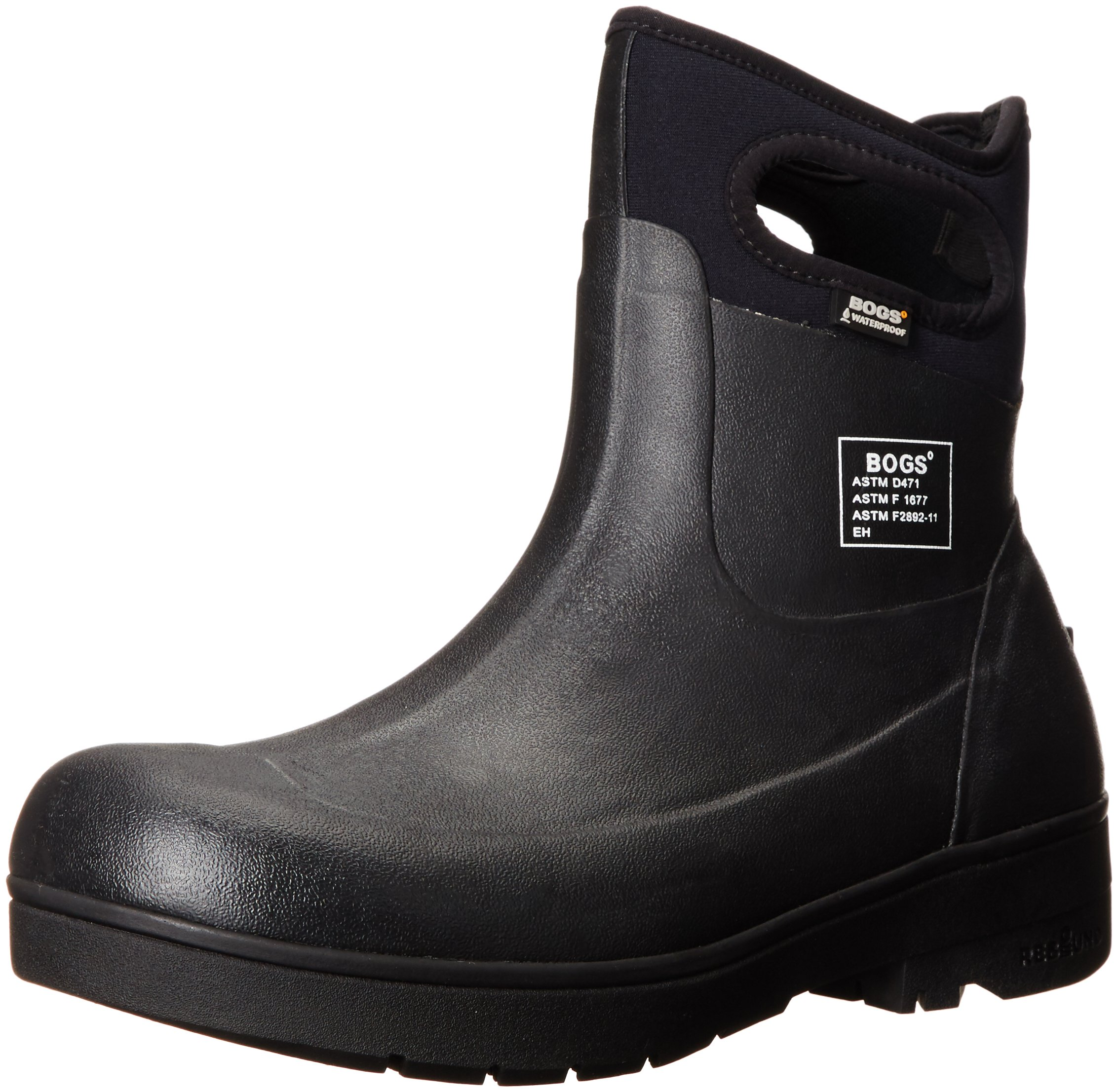 Bogs Men's Turf Stomper Insulated Work Boot, Black, 12 M US by Bogs (Image #1)