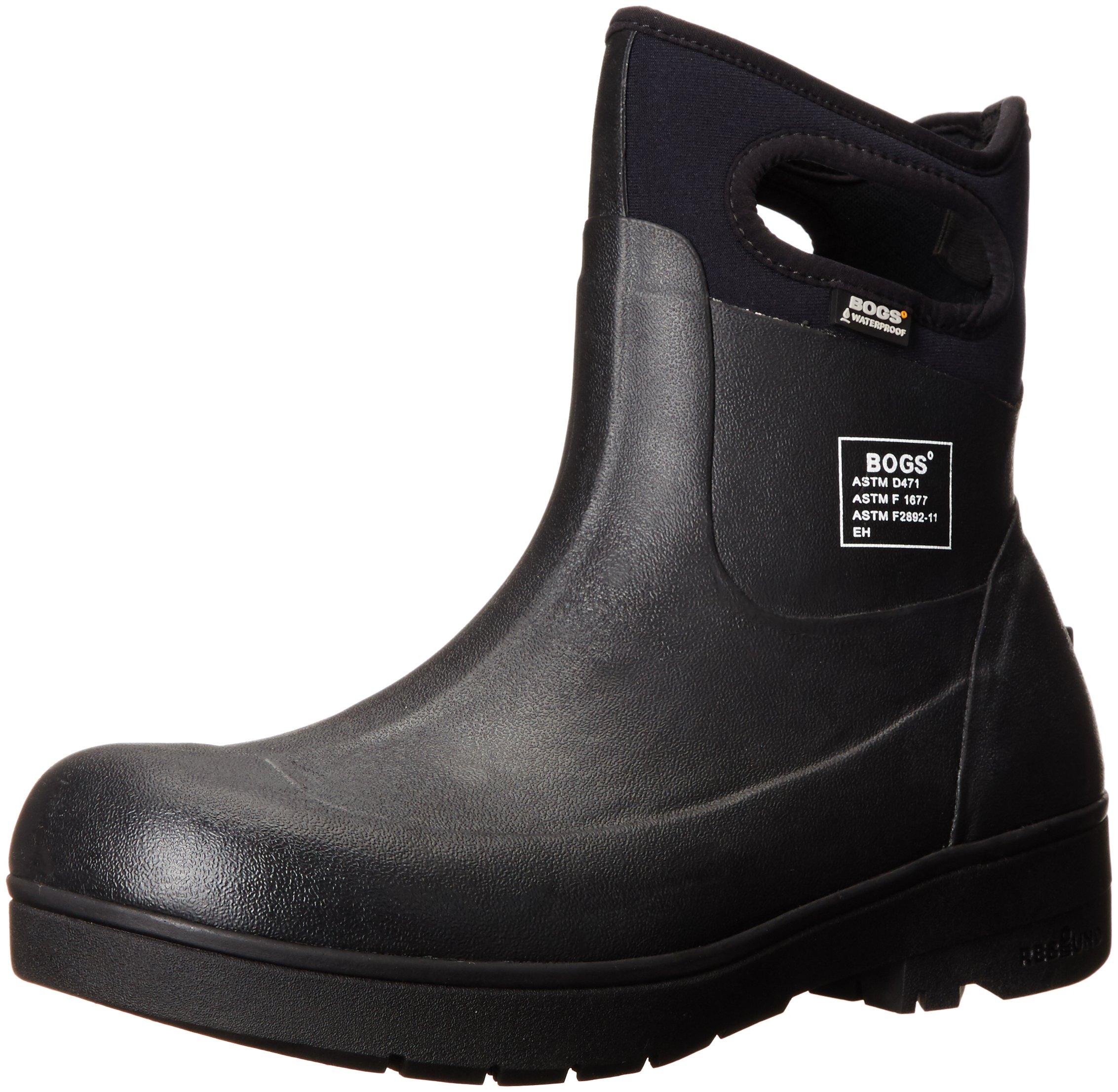 Bogs Men's Turf Stomper Insulated Work Boot, Black, 12 M US