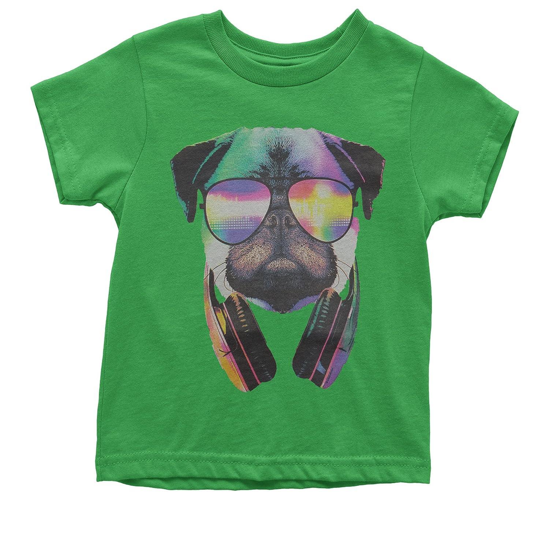 Expression Tees Neon DJ Pug Youth T-Shirt 9024-K