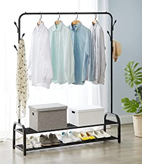 Direct Online Houseware Heavy Duty Clothes Rail 4ft//5ft//6ft With Shoe Rack Shelf And Hat Rack Metal Construction 4ft Long x 5ft High