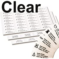 Return Address Labels - 250 Personalized Labels on Sheets (Clear)