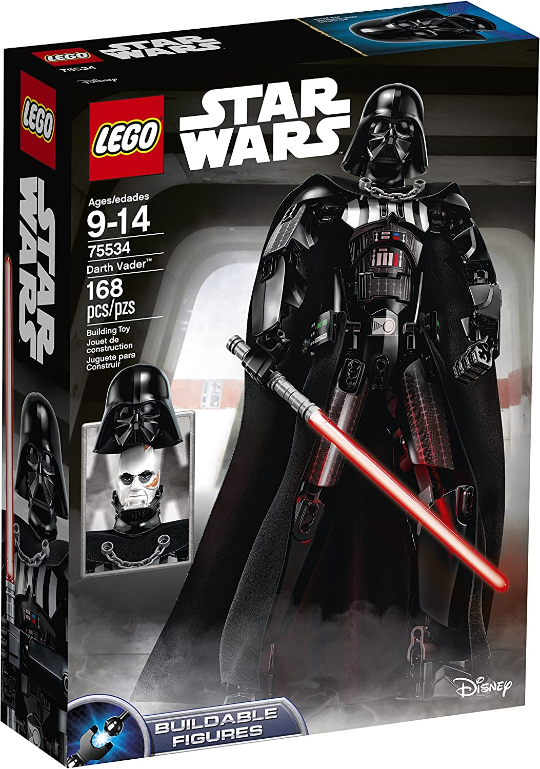 Lego Darth Vader Light Gray Head 10123 7150 7152 Star Wars Minifigure