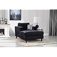 Mid Century Modern Velvet Fabric Living Room Chaise Lounge