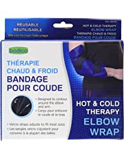 Bodico, Hot & Cold Elbow Wrap Therapy, 7 x 7 x 2.25 inches, Blue