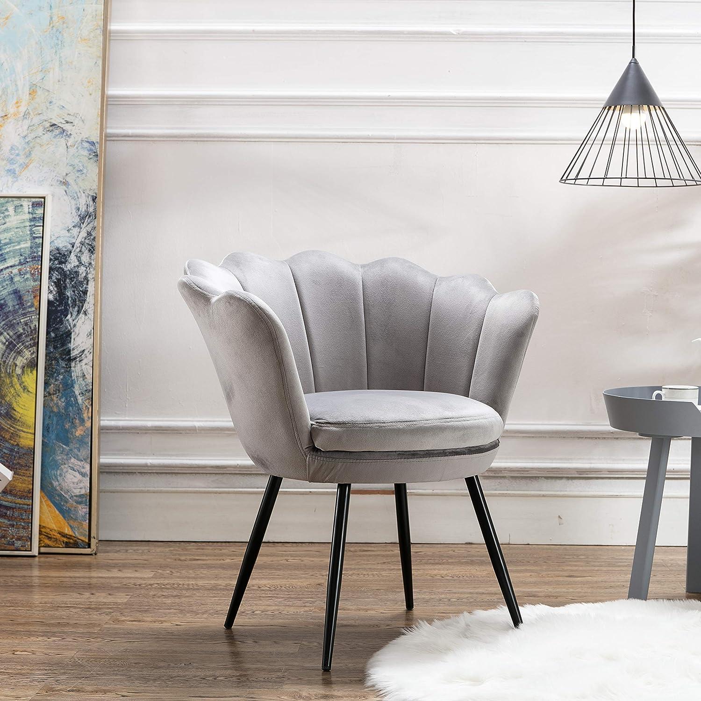 Mordern Velvet Bedroom Chair,Comfy Upholstered Accent Chair Single