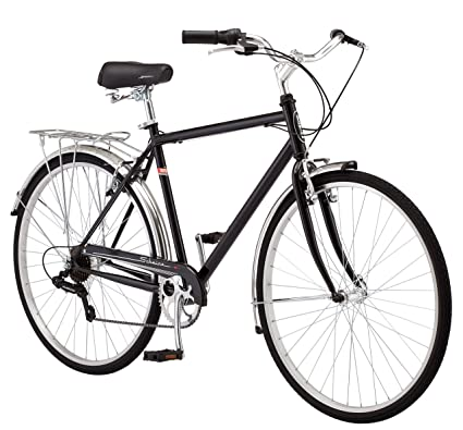 cfc11abc1d9 Schwinn Wayfarer Hybrid Bicycle, Featuring Retro-Styled 16-Inch/Small  Step-Through and 18-Inch/Medium Step-Over Steel Frames with 7-Speed  Drivetrain, ...